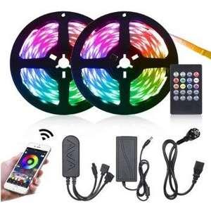 Luces LED RGB 10m con sincronización con la música