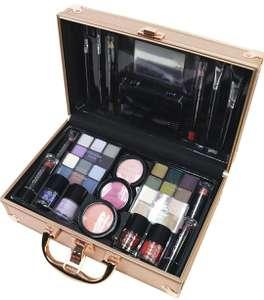 Kit completo de maquillaje maletín dorado, tb plateado en dos tonos por 12,95€