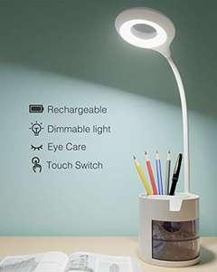 OFERTA FLASH. Lampara Escritorio,Hepside Flexo LED Escritorio Nivel 3 Brillo Flexo con Control Táctil
