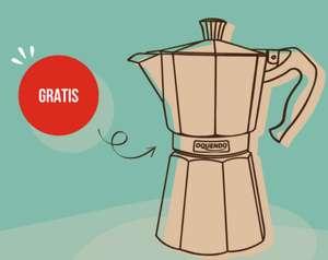 Cafetera italiana gratis en pedidos superiores a 30€