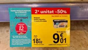 Dodot sensitive Talla 2 Carrefour 176ud (-6€ cupon aniversario)