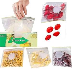 30 Piezas de Bolsas de Almacenamiento comida reutilizables