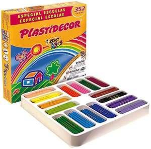 BIC Kids Plastidecor Pack de 352 Ceras lavables