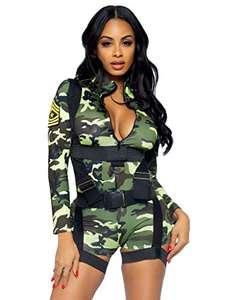 Disfraz de oficial militar de camuflaje sexy