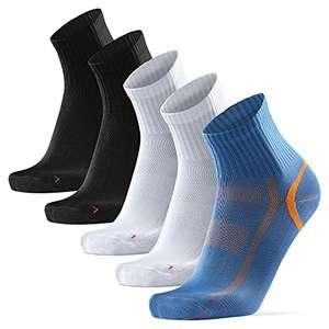5 pares de calcetines deportivos de media caña Danish Endurance tallas 43 al 47