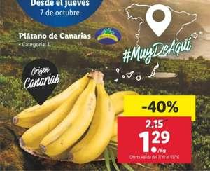 Plátano de Canarias (LIDL) (Desde el 07/10 hasta 10/10)