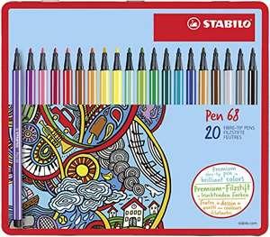 20 Rotuladores Stabilo Pen 68 en Caja de Metal