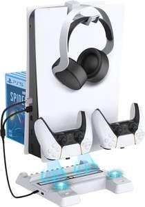 Soporte Vertical con Ventilador de Refrigeración para Playstation 5,