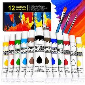 Set 12 tubos pintura acrílica