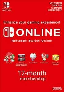 Nintendo Switch Online Suscripción - 12 Meses por 13,70€ billetera Eneba o 14,99€ Paypal
