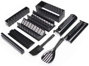Sushi Fabricación de Kit 10pc / Juego Maker Molde Arroz Rollo Molde, 5 Shapes-Triangle