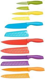 6 cuchillos y 6 fundas a juego hojas de acero inoxidable