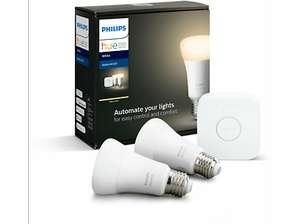 Kit de iluminación - Philips Hue, 2 bombillas, Inteligente, LED, Puente
