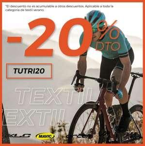 20% Dto. Textil Ciclismo Verano