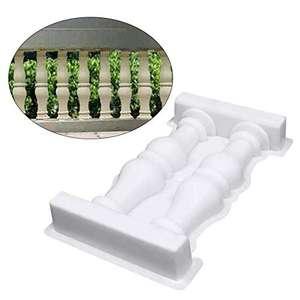 Molde valla de columna romana, 50 x 28 x 7 cm de plástico de polipropileno, reutilizable