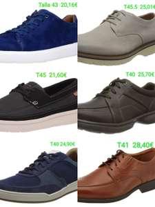 Calzado de hombre Clarks por menos de 29€. Varios modelos, tallas 40, 41, 43, 45 y 45.5.
