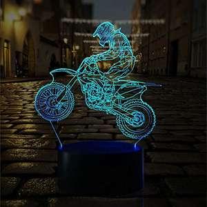 Lámpara 3D con USB, Multicolor - Más Modelos en Descripción
