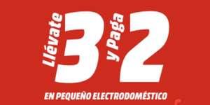 3x2 en pequeño electrodomestico