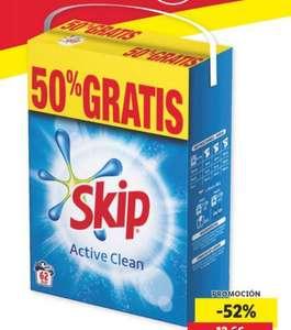 SKIP® DETERGENTE EN POLVO 62 lavados El lavado sale a solo 0,10 €.