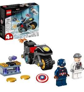LEGO Marvel Vengadores Capitán América contra Hydra, Super Heroes Set con Moto de Juguete y Mini Figuras de Avengers