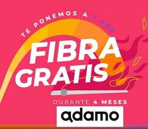 ADAMO Fibra 1000 Mb Gratis 4 meses + Móvil 25GB + NETFLIX 3 meses [12 meses de permanencia] 8€ mes despues 44€