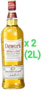 2 x 1000ml Whisky White Label (total 2L, salen los 70cl a 8,22€)