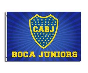 Bandera de Boca Juniors con 2 ojales 150 x 90 cm
