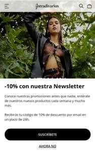 10% de descuento por suscribirte a la Newsletter de Stradivarius