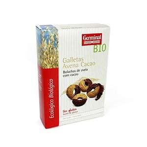 GERMINAL Galletas de Avena Sin Gluten con Cacao Bio - Germinal, 250 Gramos Pack 8 unidades
