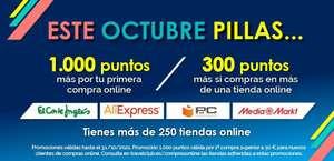 1000 puntos y 300 puntos travelclub al comprar online (clientes nuevos)