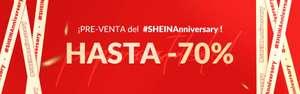 Aniversario de Shein con hasta 70% de descuento - envío gratuito a partir de 19€