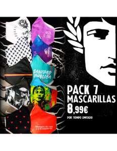 Pack 7 mascarillas 198