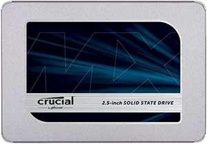 Crucial MX500 2TB CT2000MX500SSD1 Unidad interna de estado sólido-hasta 560 MB/s (3D NAND, SATA, 2.5 Pulgadas)