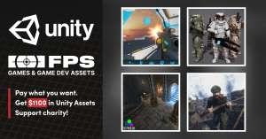 Paquetes de assets para FPS de unity valorado en 970€