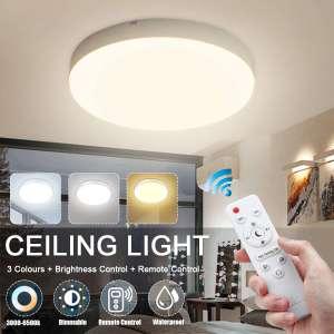 Lámpara LED de techo con control remoto desde España