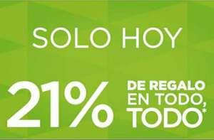 21% TODO en cupones para canjear del 9 al 15 de octubre