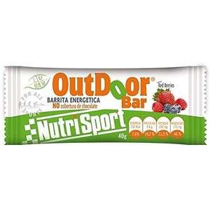 Nutrisport barritas energeticas outdoor red berries, 24 uds