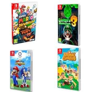 The Legend of Zelda: Skyward Sword HDm Super Mario 3D, Luigi, Mario & Sonic JJOO Tokyo (AlCampo Moratalaz), Ring Fit Adventur 49€ (Motril)