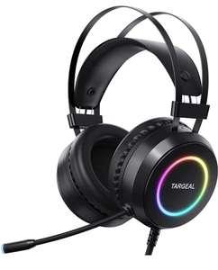 Targeal Auriculares Gaming con Sonido Envolvente 7.1Driver Audio de 50 mm-Profesional USB con cancelación de ruido
