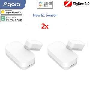 [2PCS] Aqara E1 Sensor de ventana y puerta ZΙgbee 3.0 Smart Home Kit Alarma remota Eco-System Homekit y Mi Home APP