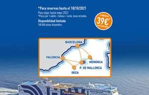 Ferry a Baleares + Coche incluido por solo 39€ x Trayecto (Cancela gratis) (Varios Puertos) (Nuevas rutas)