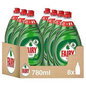 Fairy Ultra Lavavajillas Líquido a Mano, 6.2 L (8 x 780 ml), Óptimo Poder Antigrasa, Mega Pack (17.28€ Compra recuerrente)