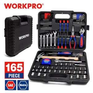 WORKPRO-Juego de herramientas para el hogar, 165 piezas,