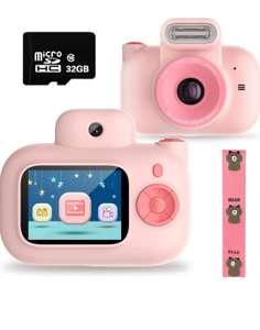 cámara de Video Digital para niños 1080P FHD+tarjeta SD de 32GB