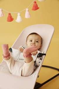 BABYBJÖRN Hamaca Balance Soft, algodón/jersey en color rosa claro/gris