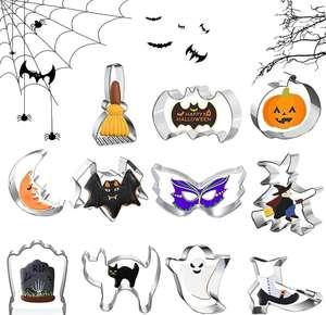 11 Moldes de Galletas, Juego de cortadores de Galletas de Halloween