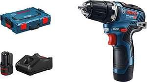 Bosch Professional 12V System GSR 12V-35 - Atornillador a batería (35 Nm, 2 baterías x 3.0 Ah, cargador, en L-BOXX)