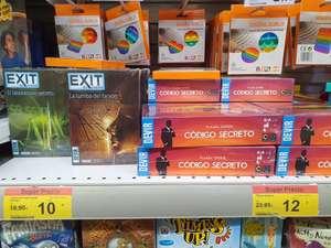 Carrefour tarragona, juegos de mesa Exit 10€, Código secreto 12€
