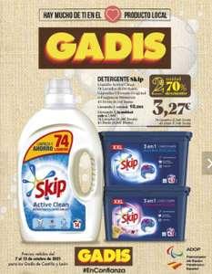 Detergente Skip la segunda unidad al 70% del 7 al 13 de octubre
