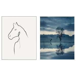 2 dibujos de Caballos 40x50cm